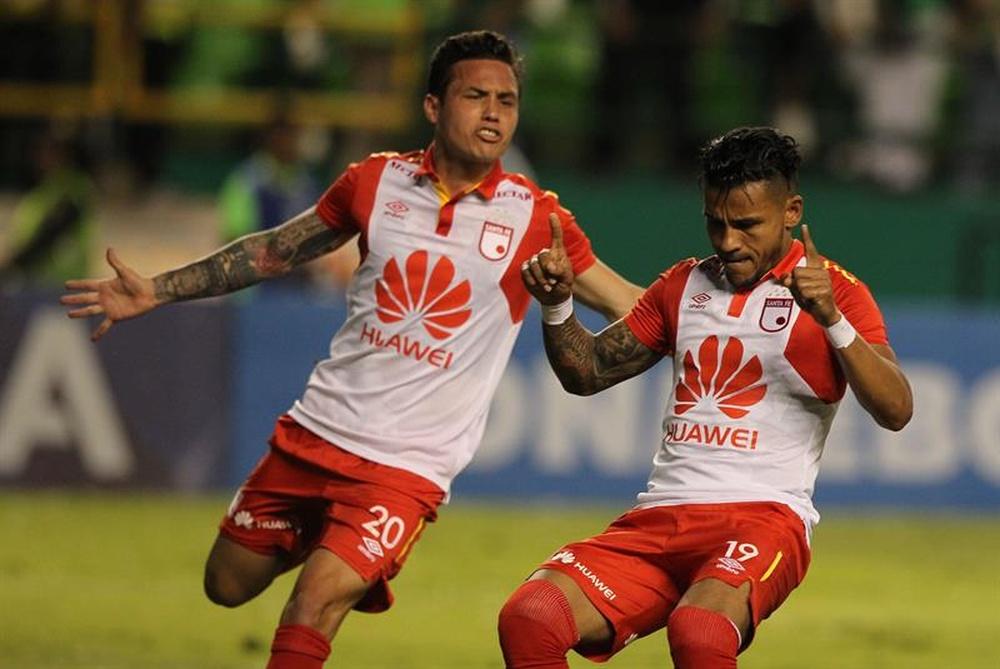 El VAR anuló un gol a Deportivo Cali en el añadido. EFE