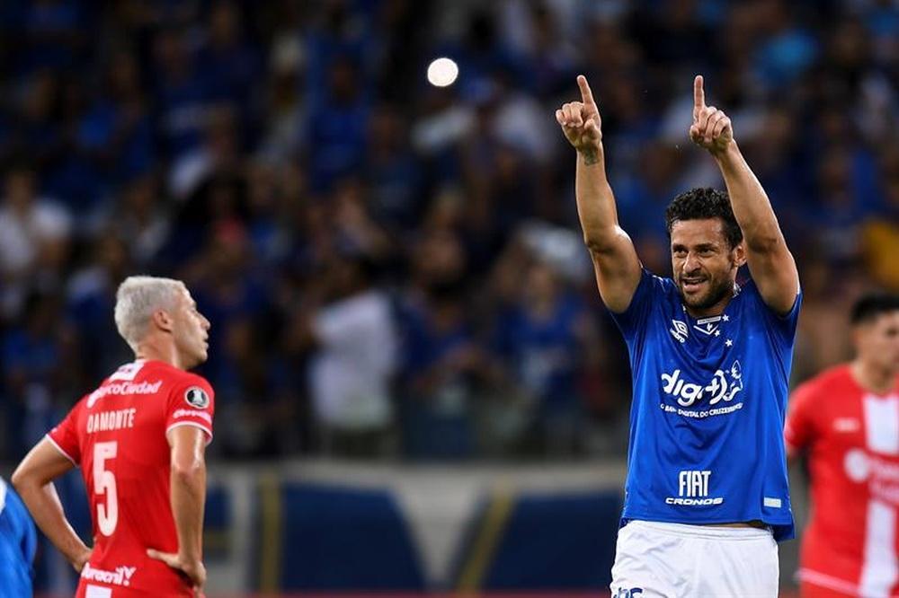 Fred, clave en la victoria de Cruzeiro. EFE
