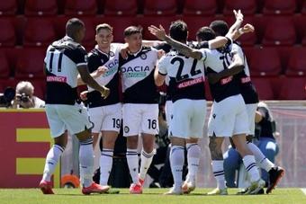 El Udinese machacó al Benevento. EFE