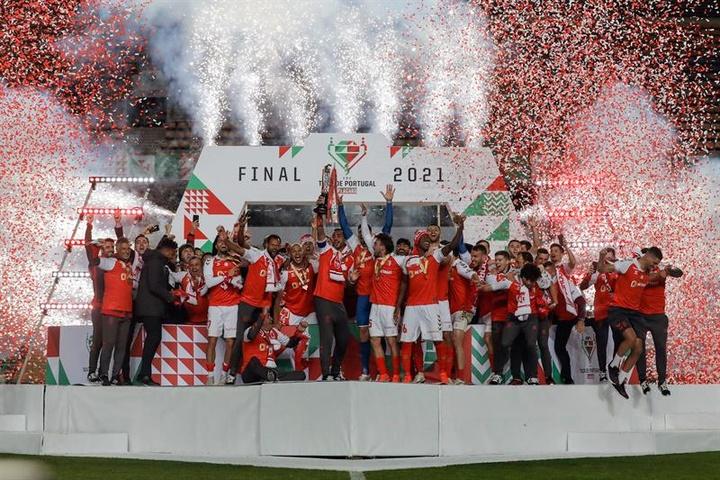 El Braga conquistó la Taça de Portugal. EFE