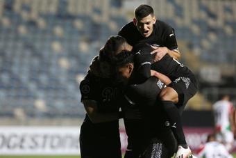 Libertad venció 1-2 a Palestino. EFE