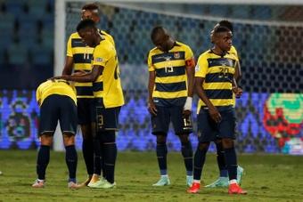 Los aficionados ecuatorianos mostraron su decepción en redes sociales. EFE