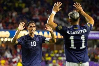 Costa Rica pasó primera de grupo tras vencer a Jamaica. EFE