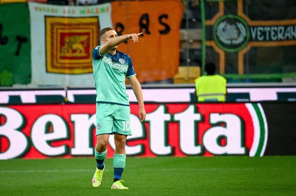Deulofeu volvió a marcar con el Udinese. EFE