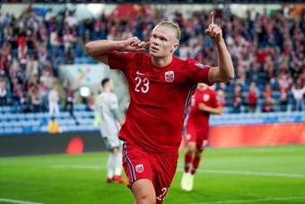 Países Bajos no consiguió la victoria ante la Noruega de Haaland en la vuelta de Van Gaal. EFE