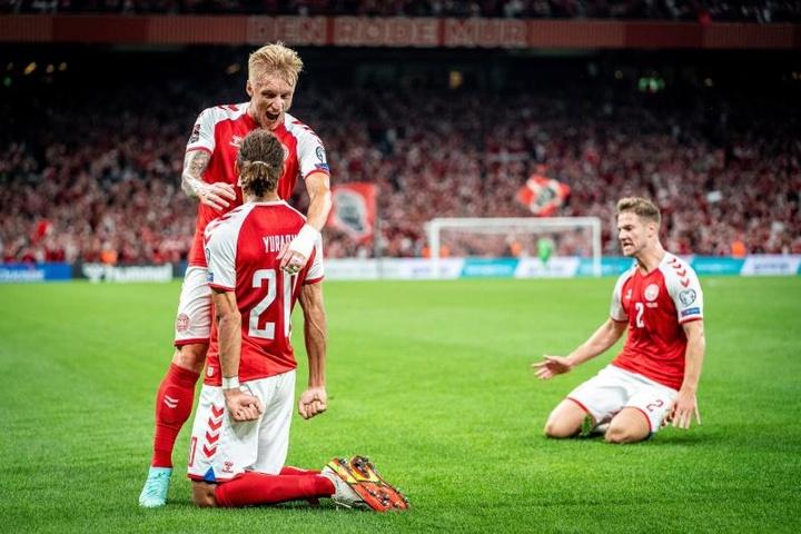 Israel sucumbió por 5-0 ante Dinamarca. EFE
