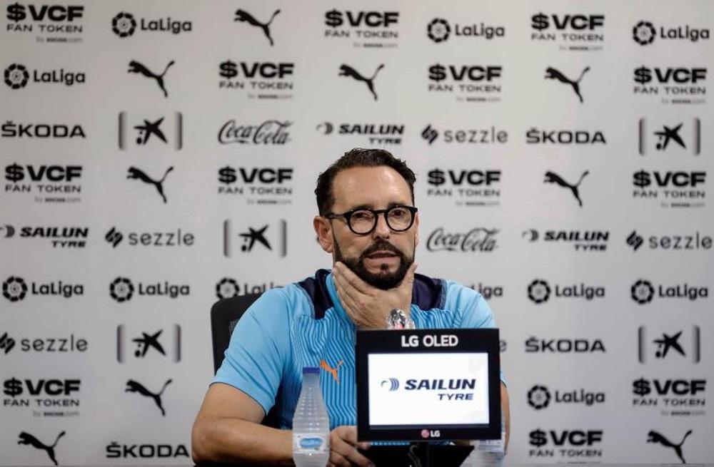 Bordalás busca su primera victoria ante el Madrid. EFE
