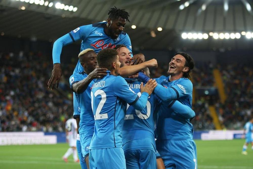 El Nápoles venció 0-4 al Udinese. EFE