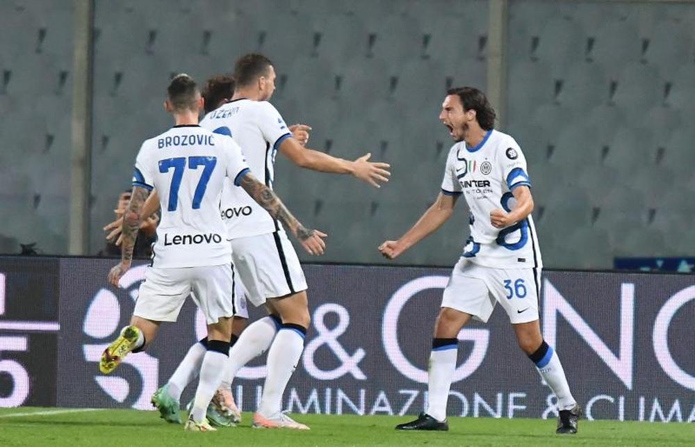 El Inter venció 1-3 a la Fiorentina. EFE
