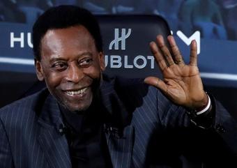 Pelé ya se ejercita tras su lesión. EFE