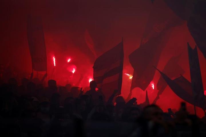 Los ultras del Marsella se enfrentaron a los del Angers. EFE