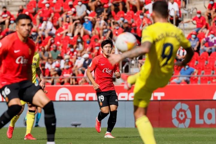 Kang-In Lee alegra al Mallorca. EFE