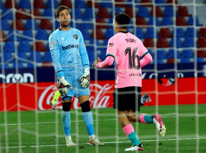 El Levante visita al Barcelona en la séptima jornada. EFE