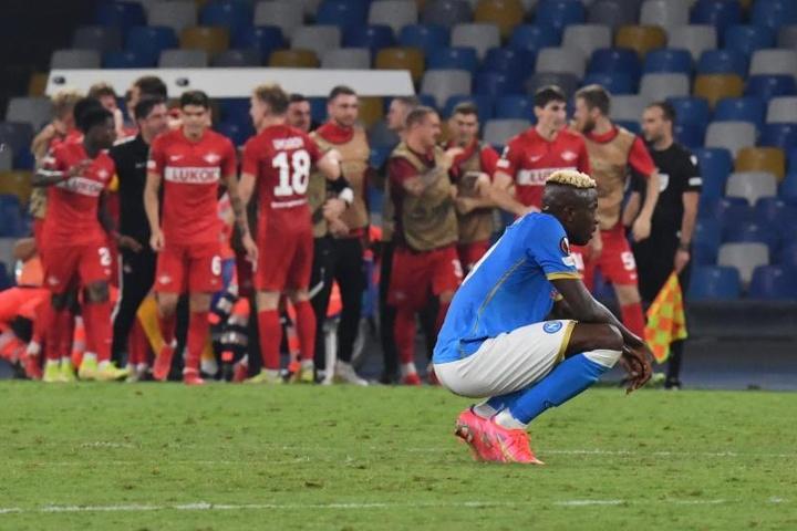 El Spartak de Moscú le quita el cartel de invencible al Nápoles. EFE