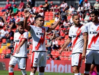 Radamel Falcao lleva tres goles en tres partidos con el Rayo Vallecano. EFE