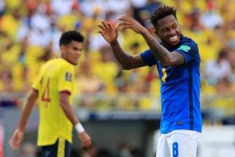 Fred resaltó el partido de su equipo pese al empate. EFE