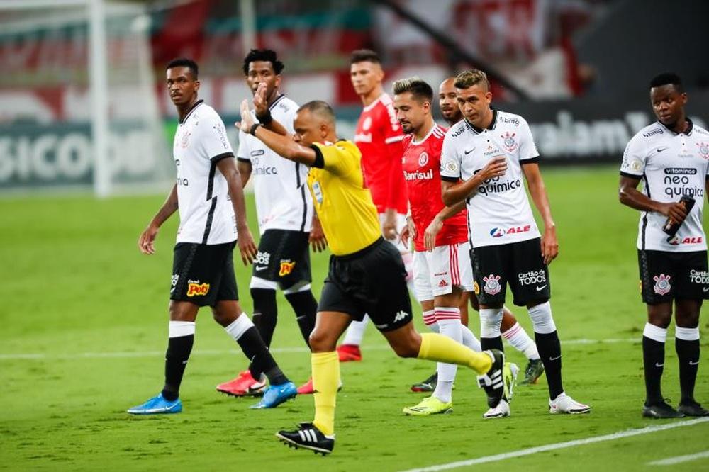 El Corinthians-Bahía fue el primer partido del cuadro paulista con público desde 2020. EFE/Archivo