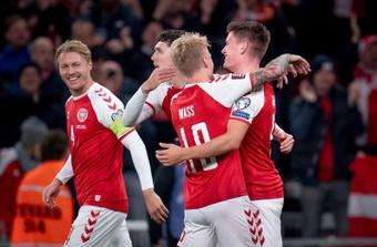 Dinamarca venció 1-0 a Austria. EFE