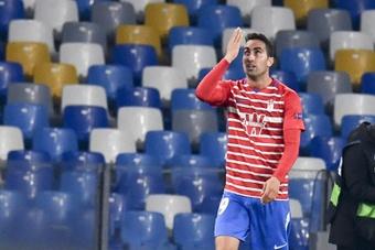 Ángel Montoro tuvo que ser sustituido ante el Sevilla por problemas musculares. EFE/Archivo