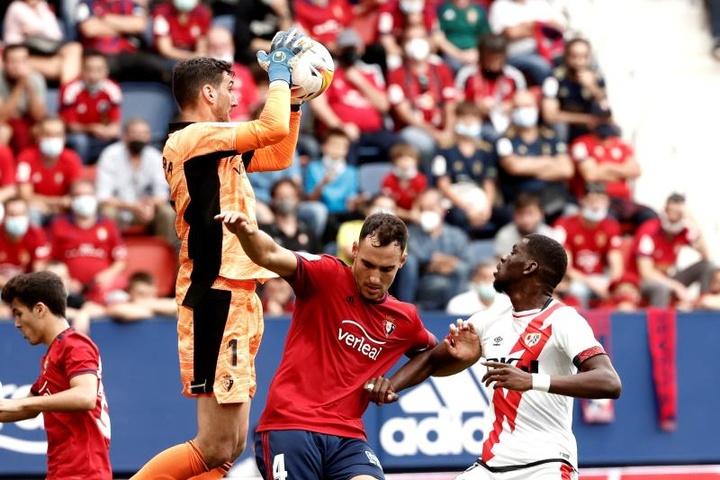Sergio Herrera es uno de los porteros que más minutos ha disputado en la presente campaña. EFE