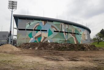 El Estadio Centenario está en obras. EFE