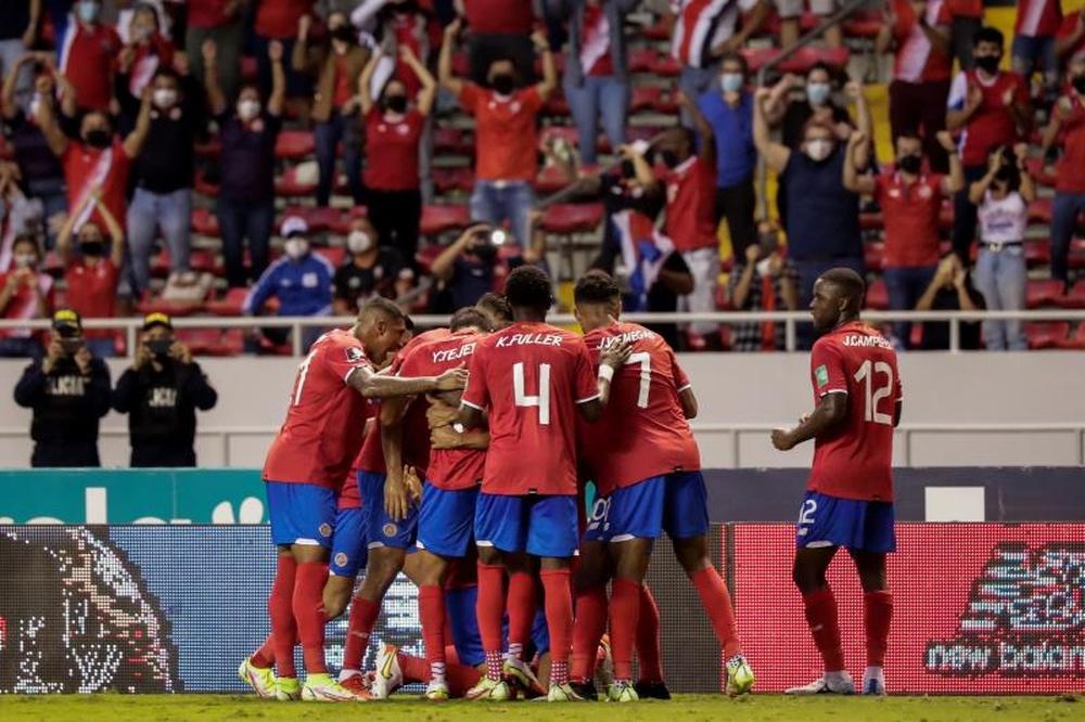 Costa Rica suma seis puntos después de seis jornadas. EFE