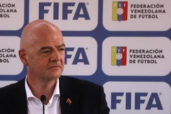 Gianni Infantino auguró un futuro futbolístico espectacular para Venezuela. EFE