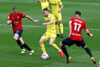 Cara a cara entre Villarreal y Osasuna. EFE