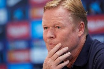 Koeman cree que el Barcelona aún tiene mucho que decidir en la competición. EFE