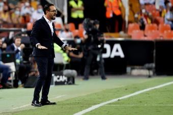 Bordalás habló de sus charlas con Lim desde su llegada al Valencia. EFE/Archivo