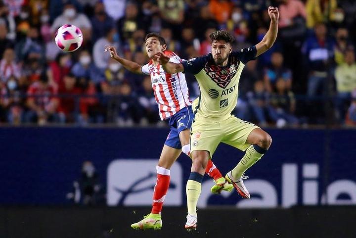 El América le ganó 0-1 a Atlético San Luis. EFE
