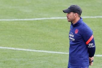 El Atleti prepara la visita del Liverpool. EFE