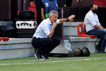 El Elche perdió en Vallecas. EFE/JJ Guillén