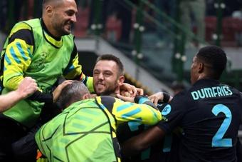 El Inter venció 3-1 al Sheriff. EFE