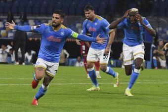 El Nápoles venció 3-0 al Legia de Varsovia. EFE