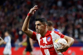 Suárez, clave en el empate del Atlético. EFE
