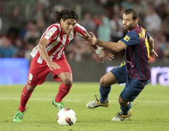 Falcao nunca le ha ganado al Barça. EFE