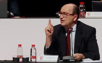 Pepe Castro destacó la buena economía del Sevilla. EFE