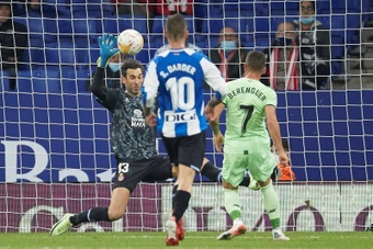 Diego López, clave en el buen arranque del Espanyol. EFE