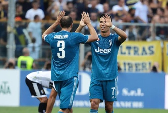 Chiellini recordó la marcha de Cristiano Ronaldo de la Juventus. EFE