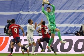 Courtois consideró frustrante el empate ante Osasuna. EFE