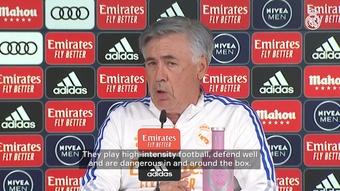 Carlo Ancelotti has spoken ahead of the game with Osasuna. DUGOUT