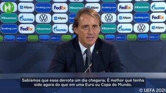 Roberto Mancini elogia 'geração talentosa' da Espanha.