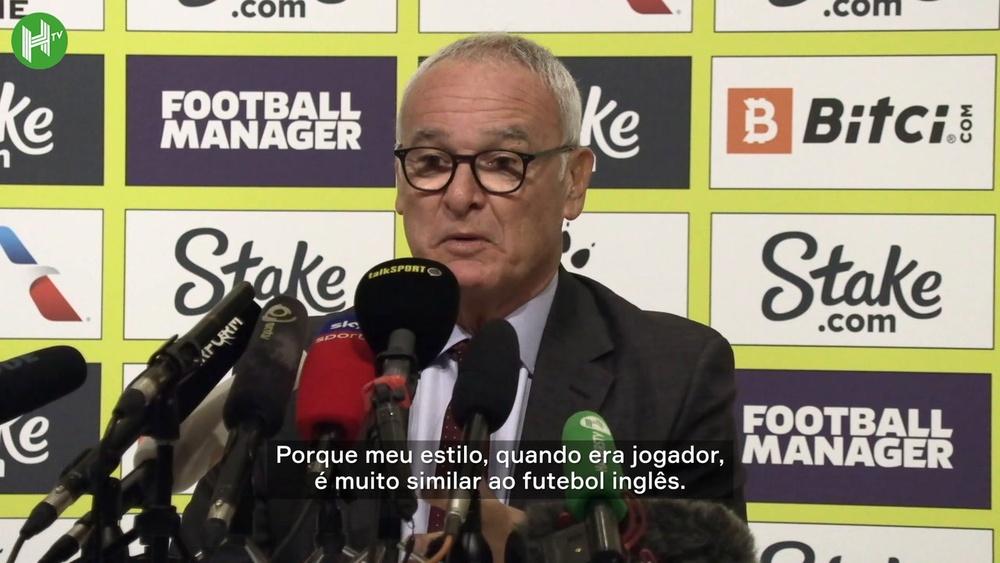 Claudio Ranieri diz que amor por futebol inglês é antigo. DUGOUT
