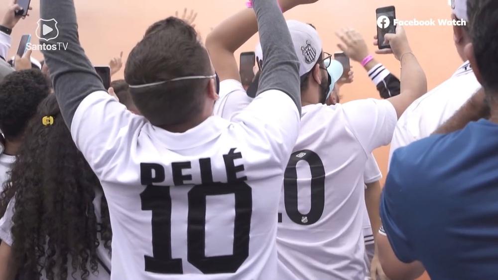 Bastidores da vitória do Santos.