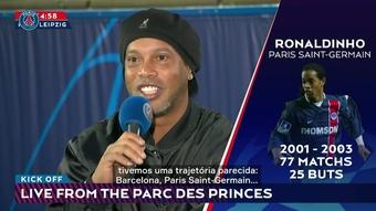 Ronaldinho comentou a dupla Messi-Neymar.