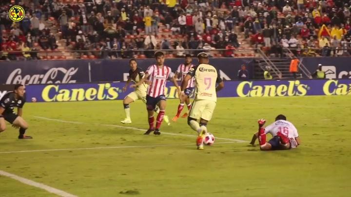 Así se vio el gol de Roger Martínez para ganar en el 97'. Captura/Dugout
