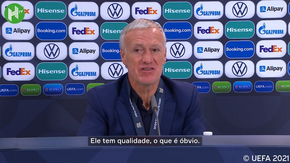 Deschamps exalta Benzema após título da França na Nations League. DUGOUT