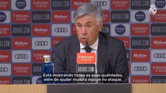 Ancelotti rasga elogios a Vini após goleada. DUGOUT