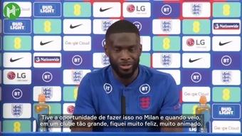 Zagueiro da Inglaterra fala sobre momento no Milan e relação com Maldini. DUGOUT